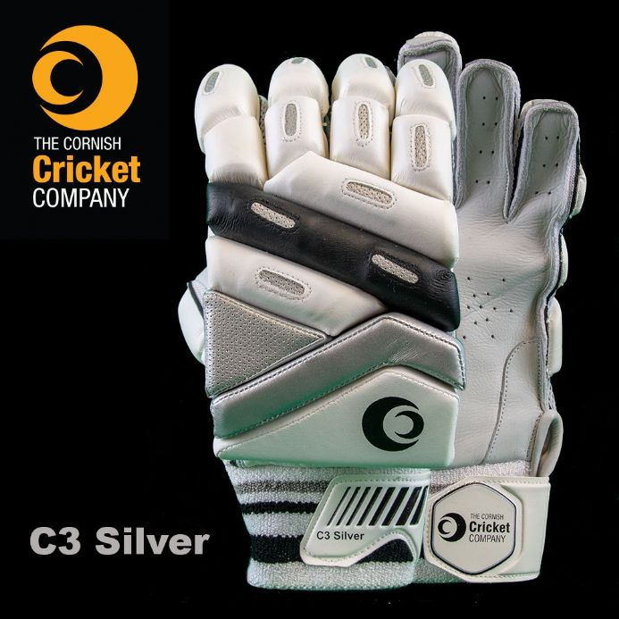 C3 Silver Batting Gloves